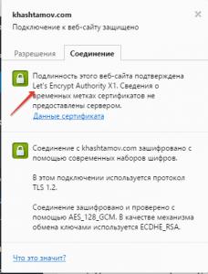 SSL сертификат от Let's Encypt