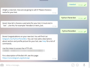 Building a Chatbot using Telegram and Python (Part 1)